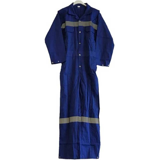 Impa 190506 boilersuit cotton button type blue size M (46-48)