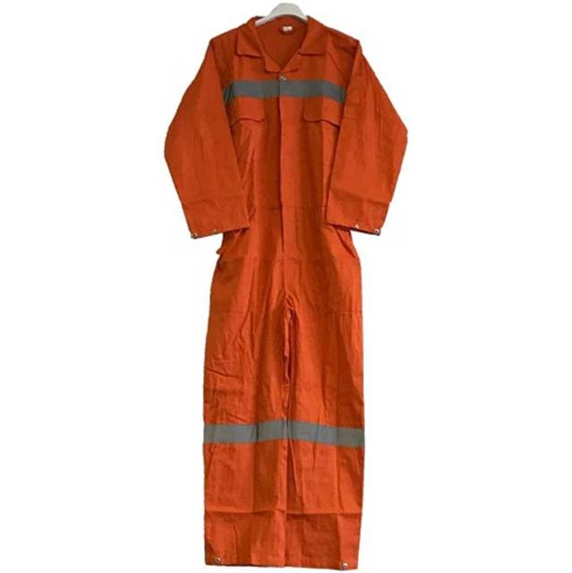 Impa 190516 boilersuit cotton button type orange size M (46-48)
